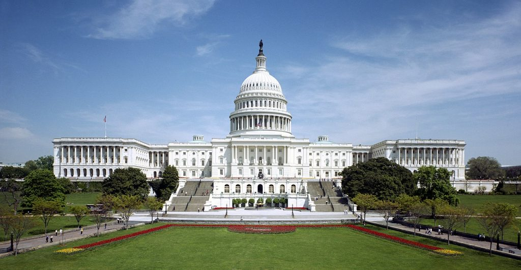 An image of the US Capitol Building.