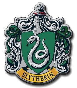 The Slytherin logo from Harry Potter.  Putting all the people we don't like into one house, like in Harry Potter, doesn't do much for our ability to work together as part of civil society.